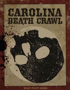 Cover of Carolina Death Crawl featured a stylized upturned skull