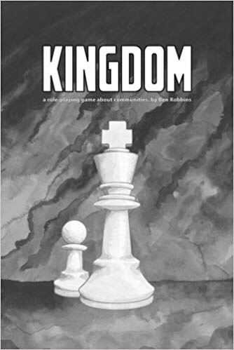 Two chess pieces drawn on the cover of Kingdom RPG