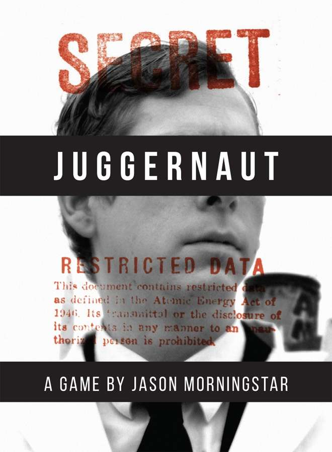 "Juggernaut cover shows the head and shoulders of a man in a lab coat with black bars covering his eyes with the word ""Juggernaut"" in the black bar. The image is stamped ""Secret""."